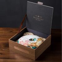 陶瓷普洱茶饼盒两饼罐定窑茶叶罐存茶醒茶罐福鼎白茶茶盒礼盒装
