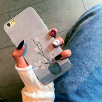 花手机壳苹果6s壳女款软硅胶iphonex手机壳简约7/8plus保护套樱