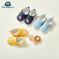 【每满299元减100元】迷你巴拉巴拉儿童鞋子女宝宝魔术贴学步鞋婴儿防滑鞋子男宝鞋子