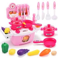 仿真厨具过家家女童3-5岁小孩生日礼物女孩儿童迷你厨房玩具套装