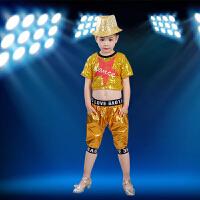 六一旦儿童演出服爵士舞亮片街舞啦啦操嘻哈表演男女现代舞套装