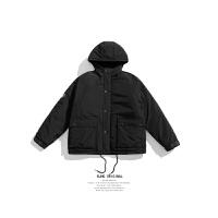 BJHG冬装棉衣新款日系宽松色大口袋连帽工装男潮牌加厚外套 2X