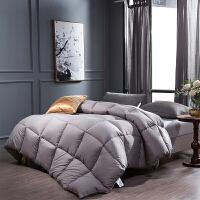 贝赛亚纤维被 保暖羽丝绒冬被春秋被芯 双人被子200*230cm 灰色