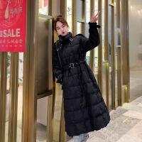 2019轻薄款羽绒服女中长款时尚宽松收腰显瘦学生韩版冬外套潮 M 120~150斤