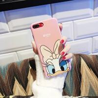 蓝光镭射可爱黛西苹果X手机壳iphone7/8plus唐老鸭软胶女6s情侣壳 6/6S 黛西 蓝光