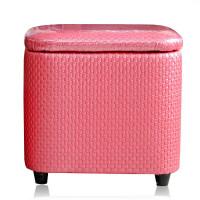 凳子收纳箱长方形 多功能门厅收纳凳储物凳子可坐人长方形皮革整理箱家用沙发换凳