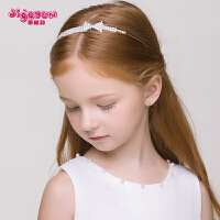 儿童水钻蝴蝶结发箍发夹发饰皇冠 女孩头箍头饰头链礼服配饰