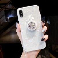 苹果X手机壳新款iphone8plus硅胶套软6s卡通抖音支架7p潮牌女挂绳
