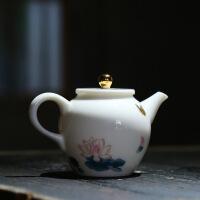 茶具套装家用陶瓷功夫茶具6人整套简约白瓷盖碗茶壶茶杯套装