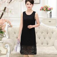 丝连衣裙黑色无袖背心裙女夏季桑蚕丝中长款打底裙显瘦a型裙子 黑色