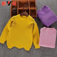 儿童毛衣新款洋气针织衫套头打底毛衫宝宝毛衣