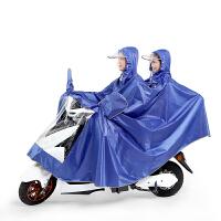 雨衣双人加大加厚加长提花牛津布雨衣电动车摩托车雨衣男女士雨披