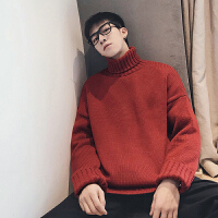 高领毛衣男秋季新款韩版潮流学生原宿风网红冬季男士针织衫