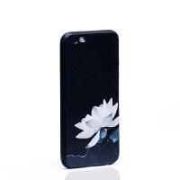 苹果6手机壳iphone6splus硅胶套潮男中国风软胶简约i6s女 6/6S 荷花