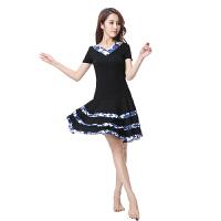 广场舞服装套装新款夏秋拉丁裙中国风印花演出服