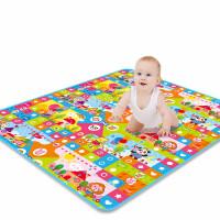 宝宝爬行垫户外便携式可折叠 婴儿童宝宝爬行垫加厚折叠爬爬垫子户外野餐垫泡沫沙滩精品游戏毯 1M2*1M8*0.5cm单