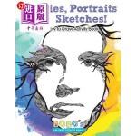 【中商海外直订】Doodles, Portraits and Sketches! Fun How to Draw Ac