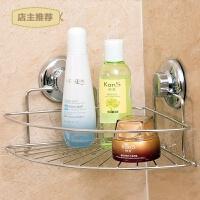 不绣钢浴室三角壁挂置物架厕所洗手卫生间吸盘架墙角置SN6176