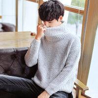 2018新款男士高领毛衣个性针织套头韩版潮流帅气春秋季毛线衣外套