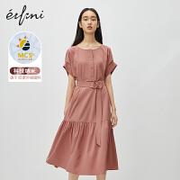 伊芙丽连衣裙2020年新款夏季法式收腰防紫外线蛋糕裙可甜可盐裙子