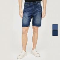 网易严选 男式CoolMax清凉牛仔短裤1.0
