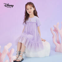 【2件3折:101.7元】迪士尼女童夏装连衣裙宝宝公主裙2021夏新款洋气儿童裙子女童装