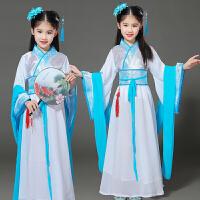 新款儿童古装仙女裙古筝唐装表演服女孩国学汉服服装