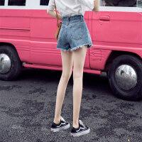 牛仔短裤女高腰2019新款夏显瘦宽松a字潮热裤外穿阔腿大码胖mm超 8022复古蓝