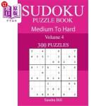 【中商海外直订】300 Medium to Hard Sudoku Puzzle Book
