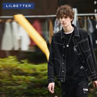 2.5折价:126;Lilbetter外套男 韩版潮流宽松工装上衣2019新款黑色潮牌牛仔夹克