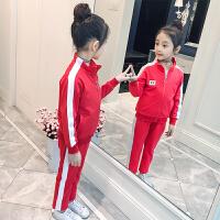 女童套装秋装2018新款韩版儿童时髦运动服小女孩春秋洋气两件套潮