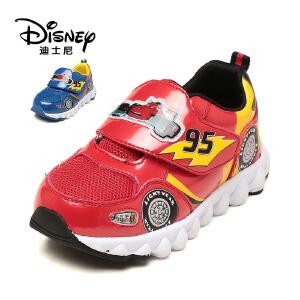 【达芙妮超品日 2件3折】鞋柜/迪士尼春秋款闪灯麦昆小汽车运动鞋跑鞋男童鞋