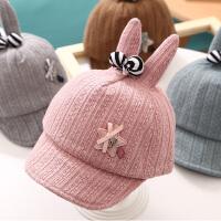 婴儿帽子春秋3-6-12个月鸭舌帽遮阳帽秋冬