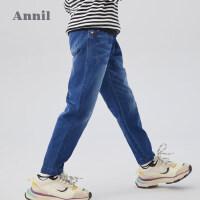 【直降价:185】安奈儿童装男童牛仔裤2020春季新款男宝宝儿童中腰皮筋休闲长裤子