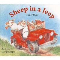 【预订】Sheep in a Jeep Lap-Sized Board Book