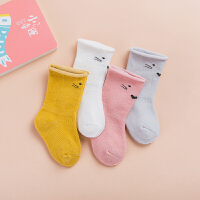 12个月幼童松口2岁婴儿袜子纯棉0秋冬男女宝宝3中筒6