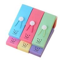 微笑塔扣铅笔盒 松紧带文具盒 卡通笑脸笔盒 儿童奖品 单个色随机