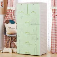 特大号纯色宝宝儿童衣柜抽屉式收纳柜塑料整理柜储物柜斗柜