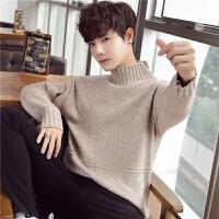 秋冬季新款男装毛衣男士针织衫韩版套头打底衫半高领线衣外套潮流