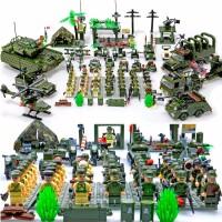 兼容积木军事系列坦克飞机人仔拼装益智玩具男孩启蒙8-12岁