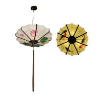 新中式吊灯创意布艺个性手绘灯笼仿古书房酒店茶楼过道餐饮工程灯
