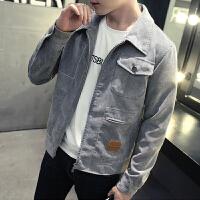2018男士秋冬春季外套新款韩版休闲潮流帅气夹克修身复古牛仔褂子