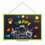 双面悬挂式白板家用宝宝画画小黑板儿童画板实木磁性写字板