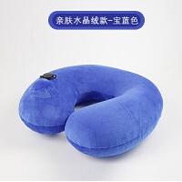 开车用的护护颈椎枕按压充气u型枕便携U形颈椎枕旅行脖枕飞机坐车靠枕午睡吹气护颈枕