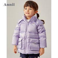 【2件3折价:230.7】安奈儿童装女童中长款羽绒服2020冬新款