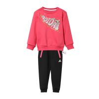 adidas阿迪达斯童服小童针织套装女童加绒休闲运动服DY7881