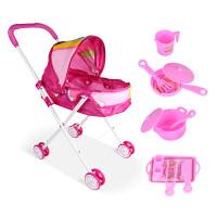 儿童玩具推车带娃娃女孩过家家宝宝购物车女童婴儿小推车