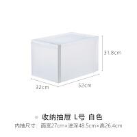 日本进口衣物收纳箱塑料抽屉式加厚内衣整理盒多层储物柜子 1个