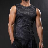 肌肉训练坎肩健身背心男宽松大码塑身衣运动跑步篮球上衣健身房款