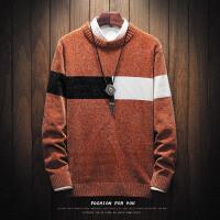 毛衣男韩版秋冬季圆领学生宽松针织衫复古条纹青年线衣男士羊毛衫